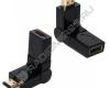 Переходник гн.HDMI - шт.HDMI вращающийся 180