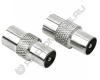 Переходник антенный штекер - антенный штекер  металл