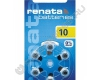 Батарейка RENATA ZA10 (6/60) для слуховых аппаратов