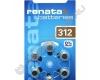 Батарейка RENATA ZA312 (6/60) для слуховых аппаратов