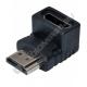 Переходник гн. HDMI - шт. HDMI угловой