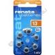 Батарейка RENATA ZA13 (6/60) для слуховых аппаратов