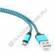 Кабель USB шт. A - шт. micro USB 1м НЕЙЛОНОВАЯ ОПЛЁТКА (CC-mUSB2bl1m)