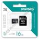 Карта памяти microSDHC SMARTBUY 16GB class 4 с адаптером