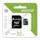 Карта памяти microSDHC SMARTBUY 32GB class 10 с адаптером