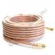 Удлинитель антенный - кабель RG-6 SELENGA силиконовый 10 метров + 2 штекера F GOLD