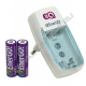 Зарядное устройство EnerGO C24-26 (аккумуляторы 2шт. R6 в комплекте)