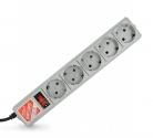 Сетевой фильтр POWER-CUBE-B 10A 5 розеток 1,9м серый