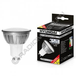 Лампа светодиодная Hyundai LED01-JCDR-220V-3W-4.5K-GU10