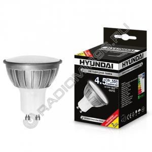 Лампа светодиодная Hyundai LED01-JCDR-220V-4.5W-4.5K-GU10
