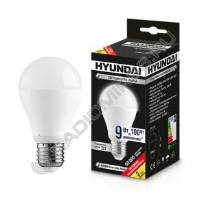 Лампа светодиодная Hyundai LED02-A60-9W-4.5K-E27