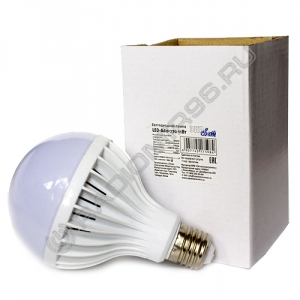 Лампа светодиодная ЭкоСвет 11W E27 A60 3000K