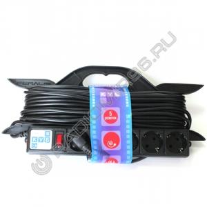 Сетевой удлинитель PowerCube 5 розеток 10м на каркасе