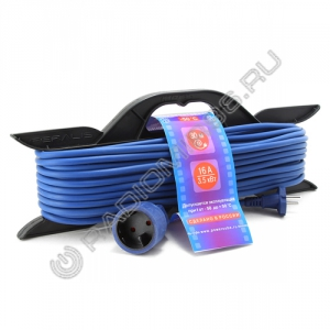 Сетевой удлинитель PowerCube 16A/3,5кВт 30м 1 розетка на каркасе морозостойкий