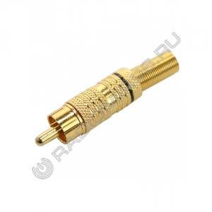 Штекер RCA металл GOLD 1 полоска