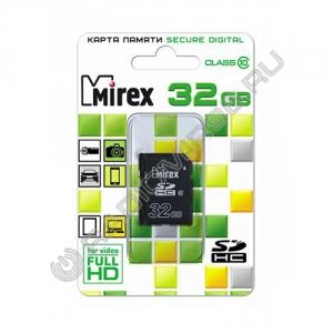 Карта памяти SDHC MIREX 32GB class 10