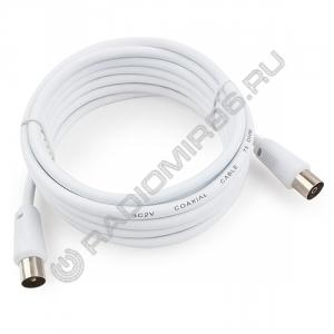 Удлинитель антенный Cablexpert 5м шт.-гн. CCV-515-W-5M