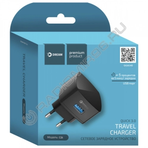 Зарядное устройство сетевое DREAM DRM-C26 USB 2.4A