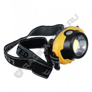 Фонарь COB LED 5Вт налобный Чингисхан 221-003