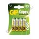 Батарейка GP LR6 SUPER ( 4/40/320 ) блистер
