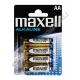 Батарейка MAXELL LR6 ( 4/48/960 ) блистер