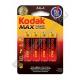 Батарейка KODAK MAX LR6 ( 4/80/400 )