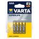 Батарейка VARTA SUPERLIFE R03 (4/48/96) солевая