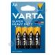 Батарейка VARTA SUPERLIFE R6 (4/48/240) солевая