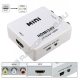 Конвертер HDMI2AV гн. HDMI -3гн. RCA + mini USB HW-2101  1080P NTSC/PAL