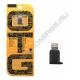 Переходник шт. LIGHTNING - гн. micro USB OTG чёрный пластик