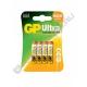 Батарейка GP LR03 ULTRA ( 4/40/320 ) блистер