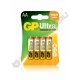 Батарейка GP LR6 ULTRA ( 4/40/320 ) блистер