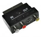 Переходник шт. SCART - гн. 3 RCA + SVHS с переключателем