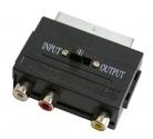 Переходник шт. SCART - гн. 3 RCA с переключателем