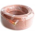 Удлинитель антенный - кабель RG-6 SELENGA силиконовый 20 метров + 2 штекера F GOLD