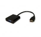 Кабель шт. HDMI - гн. VGA  20 см