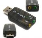 Переходник шт. USB - гн. 2 Джек 3,5 / Звуковая карта 5.1 USB (Windows 7)
