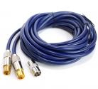 Удлинитель антенный ТВ шт. - ТВ шт. 5м с адаптером ТВ гн.-ТВ гн. (5-361F 5.0)
