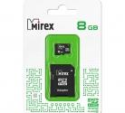 Карта памяти microSDHC MIREX 8GB с адаптером (class 10)