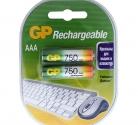 Аккумулятор GP R03/AAA/750 mAh (2/20)