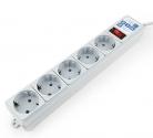 Сетевой фильтр POWER-CUBE-B 10A 5 розеток 0.5м белый