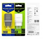 Зарядное устройство сетевое BOROFONE BA25A 2USB