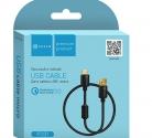 Кабель USB шт. A - шт. micro USB 1.5м FC01 QC3.0 ЧЁРНЫЙ
