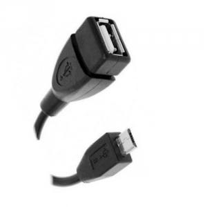 Переходник гн. USB - шт. micro USB 0,8м  OTG АТКОМ