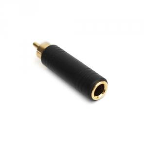 Переходник шт. RCA - гн. Джек 6,3 моно GOLD пластик