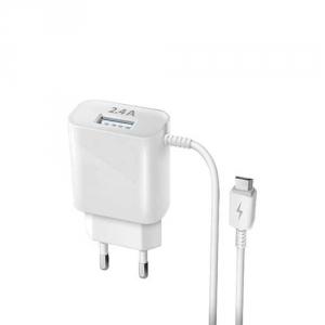 Зарядное устройство сетевое DREAM DRM-SM08 microUSB 2.4A 1м