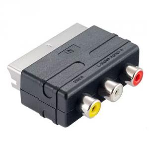 Переходник шт. SCART - гн. 3 RCA без переключателя