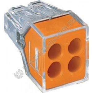 Клемма строительная 773-324 4 пр.1,0*2,5мм 24А