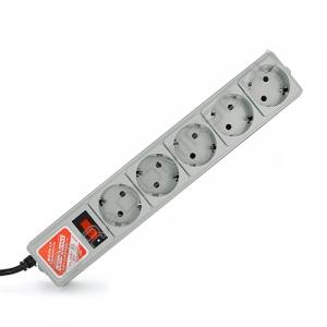 Сетевой фильтр POWER-CUBE-B 10A 5 розеток 3м серый