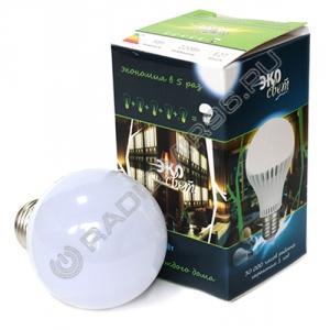 Лампа светодиодная ЭкоСвет 5W E27 2700K
